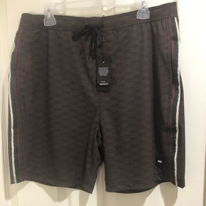 93eb7540da376 ... Size 9 Burgundy Kith Tilden swim trunks, all over print ...